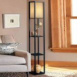 QIANGUANG® Lampadaire en bois de 1,6 m avec étagères pour chambre et salon (sans ampoule) (Black) de la marque QIANGUANG image 2 produit