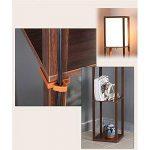 QIANGUANG® Lampadaire en bois de 1,6 m avec étagères pour chambre et salon (sans ampoule) (Black) de la marque QIANGUANG image 3 produit