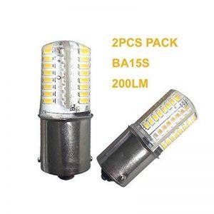 Qlee 2pcs BA15S Ampoule LED SMD3014Blanc chaud 2700–3000K DC12V AC12V Bateau de voiture lumière ampoule de rechange pour RV Camper SUV MPV Voiture Tournez Queue lecture sauvegarde lumières 360° Faisceau de la marque Generic image 0 produit