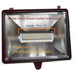 Qlee ampoule LED R7s 78mm 7,9cm intensité variable 10W Lumière du jour 6000K AC 230V 1000LM à double extrémité J78Projecteur LED pour 75W halogène de 100W lampe de remplacement de la marque QLEE image 4 produit