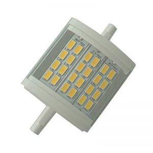 Qlee ampoule LED R7s 78mm 7,9cm intensité variable 10W Lumière du jour 6000K AC 230V 1000LM à double extrémité J78Projecteur LED pour 75W halogène de 100W lampe de remplacement de la marque QLEE image 0 produit