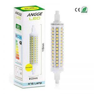 R7S 10W LED Ampoule - ANGGE 10W R7S 118mm LED Dimmable Lampe 96 2835 SMD LEDs Ampoules Blanc chaud 3000K Replaces 100-150W Halogen Floodlight Spotlight Éclairage [AC 220-240V,360 degrés Angle de faisceau] [Classe énergétique A+] - Warm White de la marque image 0 produit