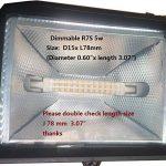 R7S 78 mm Dimmable lumière LED 2835 5 W Lumière du jour 6000 K 50 W 60 W Ampoule halogène de tungstène de remplacement de lumière à double extrémité J Type 7,6 cm J78 510LM Projecteur Spot Feux de travail, Métal, 6000k,daylight, R7s, 5.00W 230.00V, 2 Pack image 2 produit