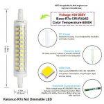 R7s LED Kakanuo 10W 118mm 1200 lm Blanc Froid 6000k 100-265V Remplacement Ampoule Projecteur Spot Non-Dimmable Non scintillement de la marque Kakanuo image 1 produit