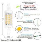 R7s LED Kakanuo 5W 78mm 600 lm Blanc Chaud 3000k 100-265V Remplacement Ampoule Projecteur Spot Non-Dimmable de la marque Kakanuo image 2 produit