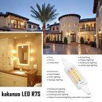 R7s LED Kakanuo 5W 78mm 600 lm Blanc Chaud 3000k 100-265V Remplacement Ampoule Projecteur Spot Non-Dimmable de la marque Kakanuo image 4 produit