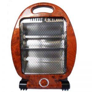 Radiateur Quartz Chauffage Infrarouge Halogène 400 800W - Aspect Loupe d'Ormes de la marque Fishtec image 0 produit