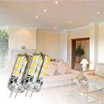 Ralbay 10 Pièce 2.5W Ampoules LED G4, 170lm, Blanc Chaud(3000K), 20 Watt Équivalence Halogènes, 24 Pièces 2835 SMD LED Silice Eclairage Décoratif, DC 12V de la marque Ralbay image 4 produit