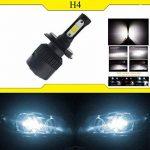 Ralbay 2* H4-H/L LED Phares Voiture Ampoules, Phare Kit de Ampoule de Rechange Auto Véhicule Etanche IP65 72W 8000LM 50000 Heures Durée de Vie, Blanche de la marque Ralbay image 4 produit