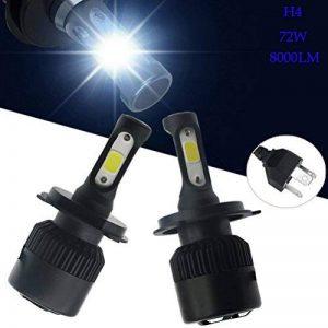 Ralbay 2* H4-H/L LED Phares Voiture Ampoules, Phare Kit de Ampoule de Rechange Auto Véhicule Etanche IP65 72W 8000LM 50000 Heures Durée de Vie, Blanche de la marque Ralbay image 0 produit