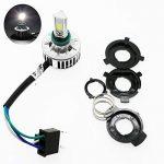 Ralbay 32W H4 (Hi/Lo) Beam Étanche Moto Phare/Code 3 COB LED IP67 Antibrouillard 3000LM Ampoule Headlight Kit Lampe DC 9-30V(Blanc 6000K) de la marque Ralbay image 1 produit