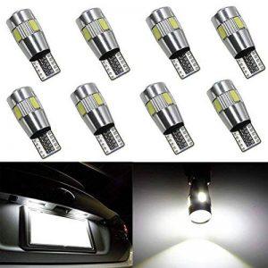Ralbay 8pcs CANBUS Ampoules LED T10 5630 6SMD W5W 194 168 2825 Feux de position Plaque Lampe Lecture Auto Voiture Intérieur Blanc de la marque Ralbay image 0 produit