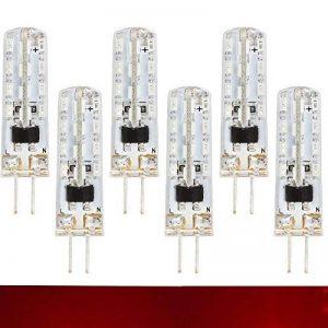 Ranpo 6x G42W 100LM 220V AMPOULE LED, 3014SMD Maïs lumières lampe pour ampoule halogène de remplacement, 20W Ampoule à incandescence équivalent, couleur rouge de la marque RANPO image 0 produit