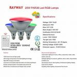 RAYWAY 20W PAR38 RGB Ampoule à LED, couvercle en verre E27 LED Lampe magique, projecteur en couleur avec télécommande 24 touches pour fête d'accueil, décoration de Noël de la marque RAYWAY image 1 produit