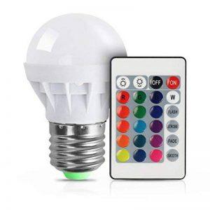 RGB Ampoule LED E27 3W Vicloon Magique Lampes d'Ambiance 16 Changement de Couleur Ampoule + Télécommande Infrarouge d'économie AC85-265V pour Chambre à Coucher,Scène,Fêtes d'anniversaire,Anniversaire de Mariage de la marque Vicloon image 0 produit