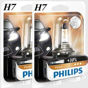 Riya (@2 x h7 philips vision 30% de lumière en plus 12 v 55 w ampoules ampoule halogène b1 ampoule de rechange de la marque Philips image 0 produit