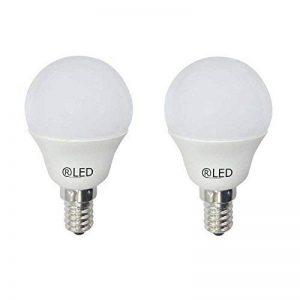 RLED Pack d'ampoules LED sphériques avec lumière chaude E145.2W, Jaune, 4.5x 7.95cm, lot de 2 de la marque RLED image 0 produit