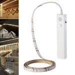 Rokoo Lampe flexible de sonde de mouvement de bande de lumière de nuit de LED de mode double pour le cabinet de Cabinet de chambre à coucher de la marque Rokoo image 1 produit