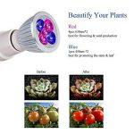 Roleadro Lampe Horticole LED Grow E27 Ampoule Double 360 Degrés Réglable LED pour Plante Culture Croissance Et Floraison de la marque Roleadro image 1 produit
