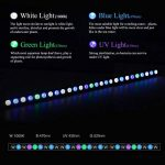 Roleadro Led Aquarium 81W 27 LED Lampe Aquarium Bar de Lumière Imperméable à l'eau de La Bande de Bâton Submersible pour Corail Eau de Mer Eclairage Aquarium 85CM de la marque Roleadro image 3 produit