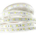Ruban Led, Grande Luminosité bandeau led 220v avec Interrupteur,5050 IP65 étanche Strip Led, 3M Blanc Froid de la marque Q.Laomi image 2 produit