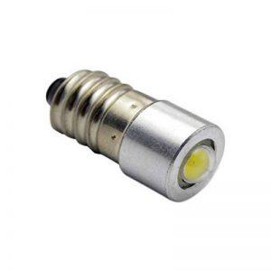 Ruiandsion E10ampoule LED DC 3–18V 1W 6000K Blanc 200LM LED COB Ampoule pour lampe torche Torchlight Phare, négatif Earth (lot de 1) de la marque Ruiandsion image 0 produit