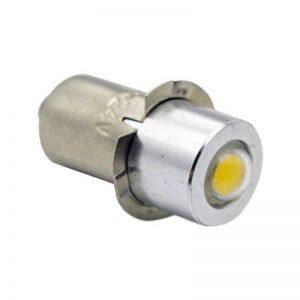 Ruiandsion P13.5Torchlight ampoule LED DC 5–24V 1W 6000K Blanc 200LM LED COB Ampoule pour lampe torche Torchlight Phare, négatif Earth (lot de 1) de la marque Ruiandsion image 0 produit