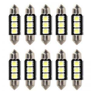 Rupse 10 X 36mm 3 SMD LED Ampoule Feston de Voiture Lampe de Lecture / Coffre C5W Lampe de Plaque d'Immatriculation 5050 Canbus Décodage Haute Luminosité de la marque Rupse image 0 produit