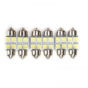Rupse 6* 30mm 4-SMD LED 5050 Festoon Lampe Intérieur de Voiture Lampe de Porte/Lecture Ampoule Auto Blanc de la marque Rupse image 0 produit