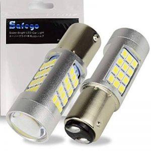 Safego 2 x 1157 BAY15D Ampoules LED 2835 42SMD Lampe Pour la Lumière Inversée de la Sauvegarde Arrière Feu de Freinage Blanche 12V 6500K de la marque Safego image 0 produit
