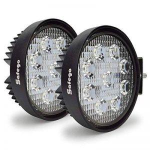 Safego 27W Projecteur LED Lampe de travail Lampe 12V 24V Offroad haute puissance pour camion 4x 4ATV tracteur 60degrés 27Ws-fl Lot de 2 de la marque Safego image 0 produit