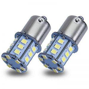 Safego 2x1156 BA15S LED Ampoules 2835 24SMD Lampe Pour la Lumière Inversée de la Sauvegarde Arrière Feu de Freinage Blanche 12V 6500K de la marque Safego image 0 produit