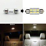 Safego 4x C5w led 36mm 5630 SMD 6 LED Ampoule Lampe Dôme Festoon C5w Led DC 12V Blanc Voiture de la marque Safego image 1 produit