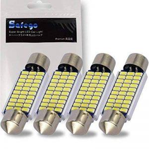 Safego 4x C5W LED Anti Erreur Blanc 41mm 3014 Ampoules 30SMD Feston Dôme Voiture Intérieur LED Lumière 211-2 578 DC 12V 6000k de la marque Safego image 0 produit