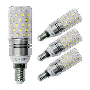 Sagel E14 LED Ampoules de Maïs, Ampoules de Candélabre LED 12W Équivalent 100 Watts, 1200lm, Ampoules de lustre LED Blanc Froid 6000K, Base E14, Lampe LED Non-Dimmable, Pack de 4 de la marque Sagel image 0 produit