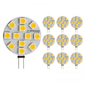 Sebson® 10 X Ampoule Led 2.5w (Remplace 20w) - Culot G4 - Angle Du Faisceau 110° - Blanc Chaud - 200lm de la marque sebson image 0 produit