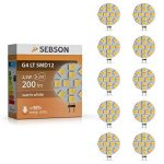 Sebson® 10 X Ampoule Led 2.5w (Remplace 20w) - Culot G4 - Angle Du Faisceau 110° - Blanc Chaud - 200lm de la marque sebson image 1 produit