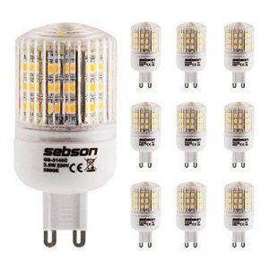 SEBSON® 10 x Ampoules LED 3W (remplace 25W) - Culot G9 - Angle du faisceau 160° - Blanc chaud - 240l de la marque Naeve Leuchten image 0 produit