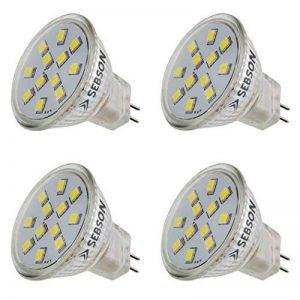 SEBSON® 4 x Ampoule LED 1.6W (remplace 15W) - Culot GU4 MR11 - Angle du faisceau 110° - Blanc chaud - 150lm de la marque sebson image 0 produit