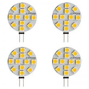 SEBSON® 4 x Ampoule LED 2.5W (remplace 20W) - Culot G4 - Angle du faisceau 110° - Blanc chaud - 200lm de la marque sebson image 0 produit