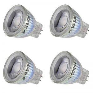 SEBSON® 4x Ampoule LED GU4 / MR11 3W (remplace 20W), 220lm, 36°, Blanc chaud, 12V DC de la marque sebson image 0 produit