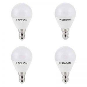 SEBSON® 4x Ra95 + flicker free, E14 LED Ampoule 6W (remplace 35W), 430lm, blanc chaud 2700K de la marque sebson image 0 produit