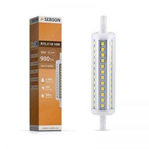 SEBSON Ampoule LED R7S 118mm, lampe-torche à LED R7s 10W, remplace 65W ampoule à incandescence, 900lm, 280° de la marque sebson image 0 produit