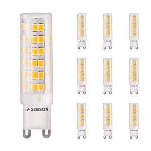 Sebson Ampoules LED G9Blanc chaud 5W Équivalentes à une ampoule à incandescence de 40W Ampoules LED 400lumen Éclairage à 280° Lot de 10 de la marque sebson image 0 produit