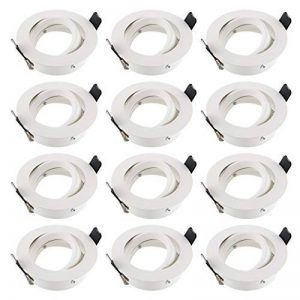 SEBSON Spot encastré orientable Blanc/Spot (LED/halogène), Aluminium, Weiß, 12er Set de la marque sebson image 0 produit