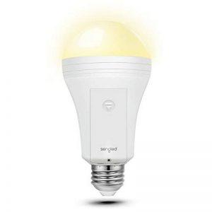 Sengled Everbright, Ampoule LED, Fonctionne en cas de panne de courant, Batterie de secours intégrée, 9 W équivalent 60 W, Blanc chaud 3000K, Culot E27, Non compatible variateur de la marque Sengled image 0 produit