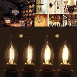 SES LED 2W Candle Bent tip Bronze antique ampoules à filament LED E14Filament ampoule lampe Bougie Blanc Chaud AC 220V non dimmable Chandelier LED à économie d'énergie Lampe de la marque LEDSONE image 2 produit