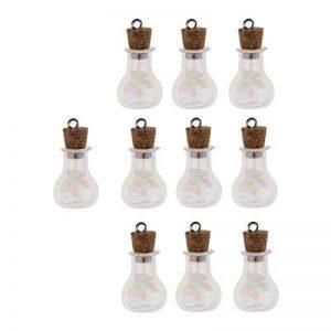 Sharplace 10pcs Mini Petit Flacon en Verre avec Liège Bouteilles en Verre Mini Flacons pour Fabrication de Bijoux de la marque Sharplace image 0 produit