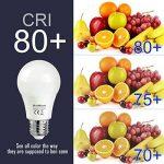 SHINE HAI Ampoule LED E27 A60 8W, Equivalent 60W à Ampoule Halogène/Incandescente, Blanc Froid 6500K, Lampe LED Sphérique, 800lm, Angle de Faisceau 220°, IRC>80, Lot de 6 de la marque SHINE HAI image 4 produit
