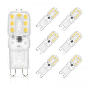 SHINE HAI G9 Ampoule LED 3W Equivalent à Ampoule Halogène/Incandescente 25W, Blanc Chaud 3000K, 280LM, Culot G9, 270° Large Faisceau, IRC>80, Lot de 6 de la marque SHINE HAI image 0 produit